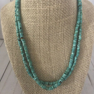 Turqouise And Sterling Silver Necklace 18""